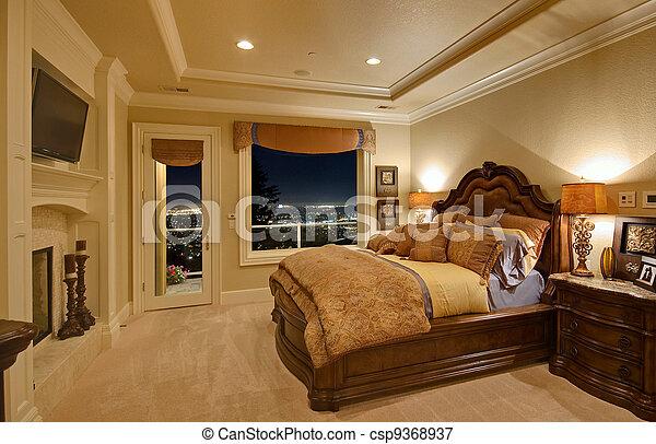 Schlafzimmer in Luxushaus - csp9368937