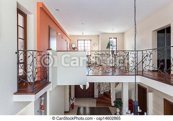 Ein tolles Haus. Zweistöckiges Haus - csp14602865