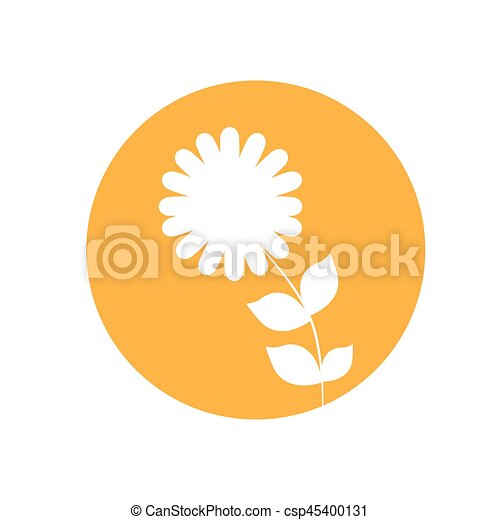 dahlia flower natural icon - csp45400131