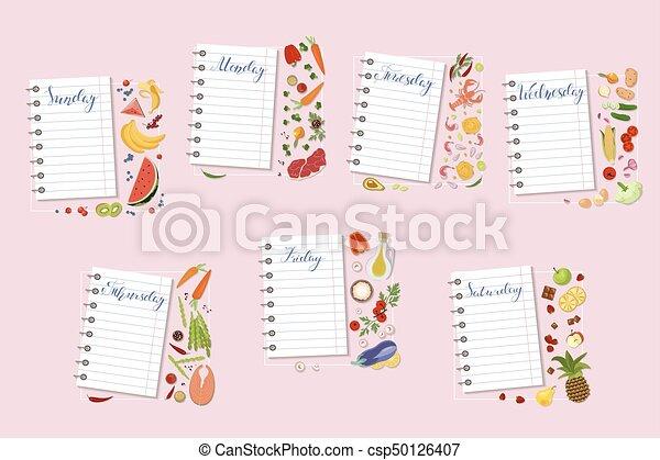 daily diet plan - csp50126407