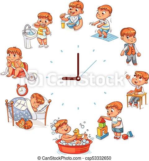 Daily routine - csp53332650