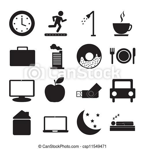 daily routine - csp11549471