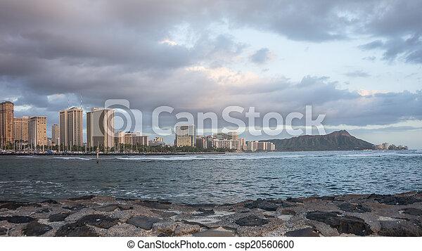 Daimond Head & Waikiki Beach - csp20560600
