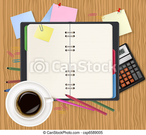 Dairy and office supplies. Vector - csp6589005