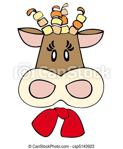 Dairy cow face. - csp5143923
