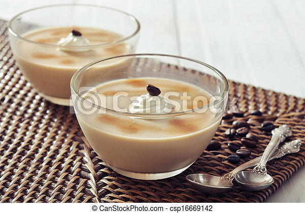 Dairy dessert with coffee flavor - csp16669142