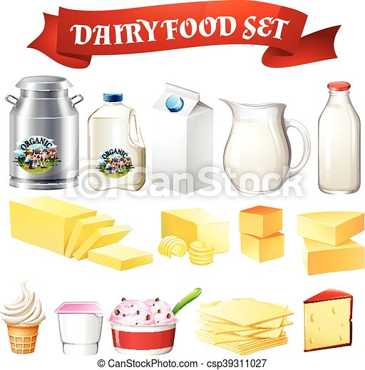 Dairy products food set - csp39311027