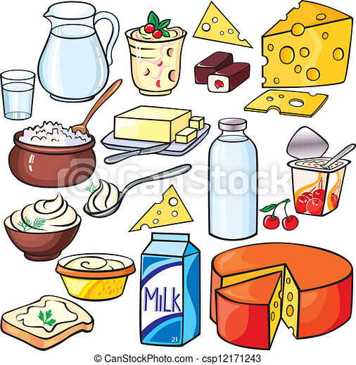 Dairy products icon set - csp12171243