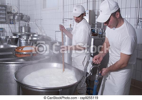 dairymen, mozzarelle, préparer - csp9255119