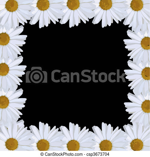 daisy border vector - csp3673704