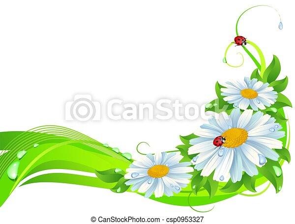 Daisy decoration - csp0953327