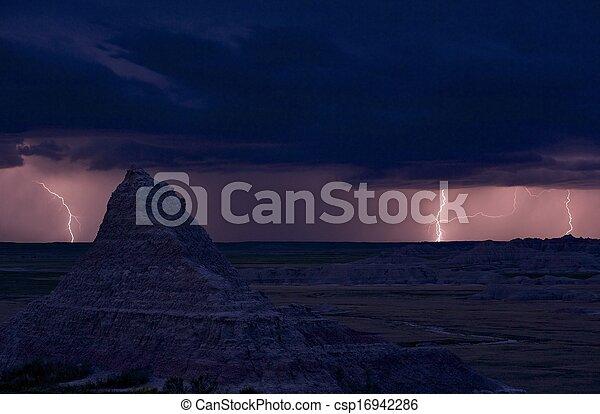 dakota, sud, orage - csp16942286