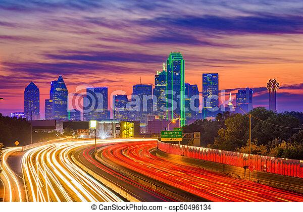 Dallas, Texas Skyline - csp50496134