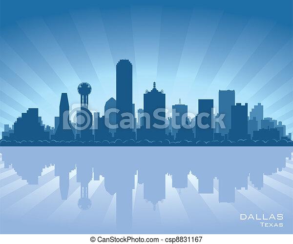 Dallas, Texas skyline - csp8831167