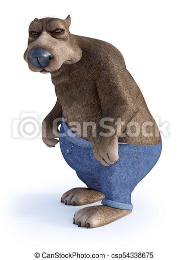 Dall aspetto molto cartone animato orso grumpy burbero angry