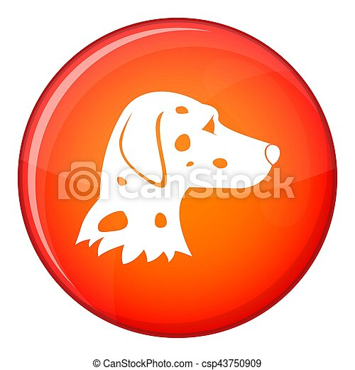 Dalmatians dog icon, flat style - csp43750909