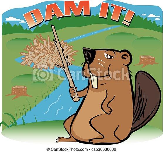Dam Beaver - csp36630600