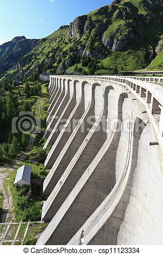 dam in Fedaia lake - csp11123334