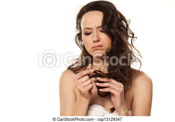 damaged hair - csp13129347