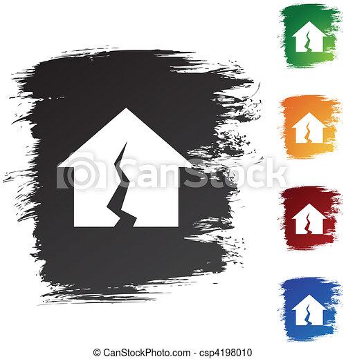 Damaged Home - csp4198010