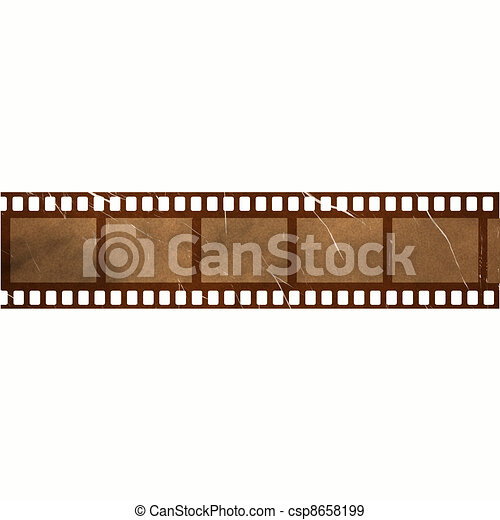 damaged old vintage film strip - csp8658199