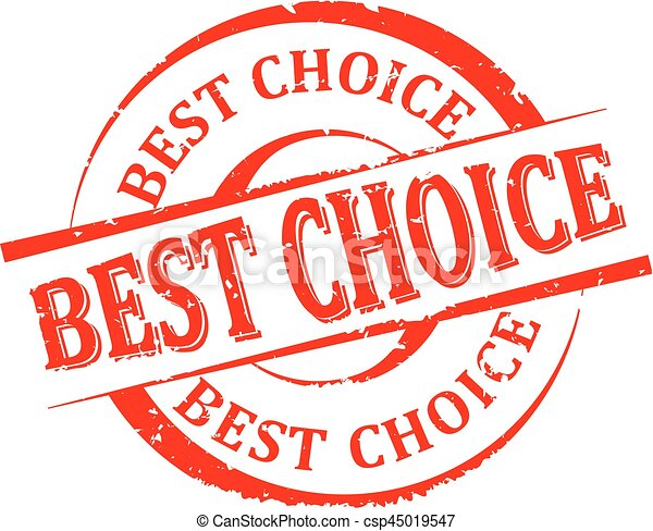 Damaged round red stamp with the word - best choice - vector - csp45019547