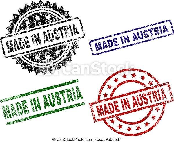 Damaged Textured MADE IN AUSTRIA Stamp Seals