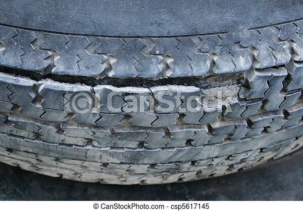 damaged tire - csp5617145