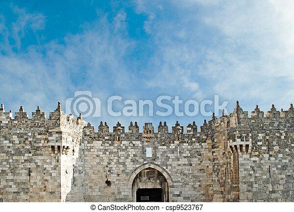 Damascus gate of old city of Jerusalem - csp9523767