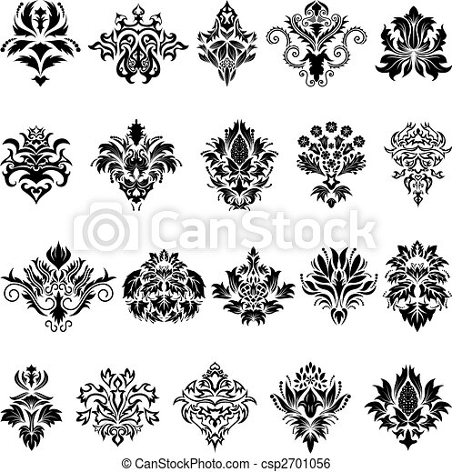damask emblem set - csp2701056
