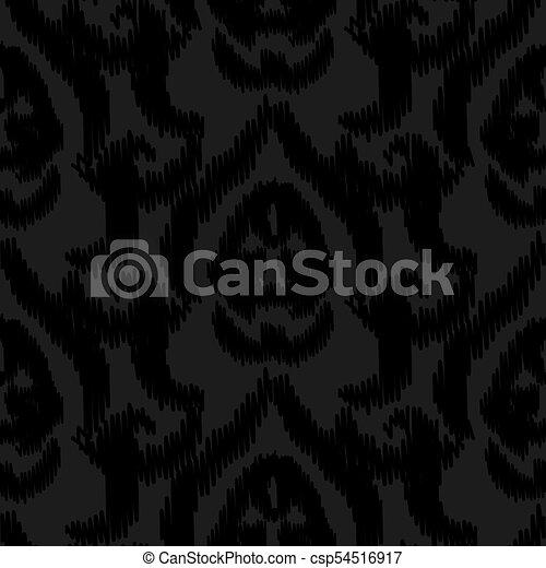 damask ikat black elegant seamless vector wallpaper pattern