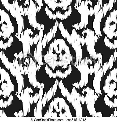 Damask Ikat Seamless Vector Wallpaper Pattern