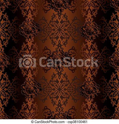 Damask seamless ornament pattern - csp38100461