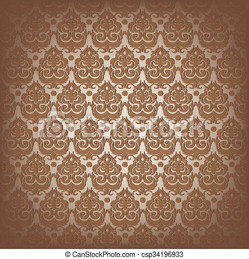 Damask seamless pattern - csp34196933