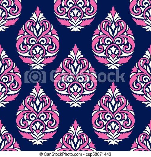 Damask seamless vector wallpaper - csp58671443