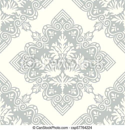Damask seamless vector wallpaper - csp57764224