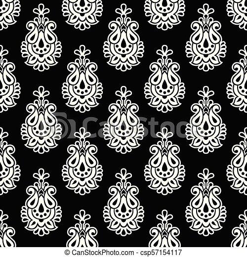 Damask seamless vector wallpaper - csp57154117