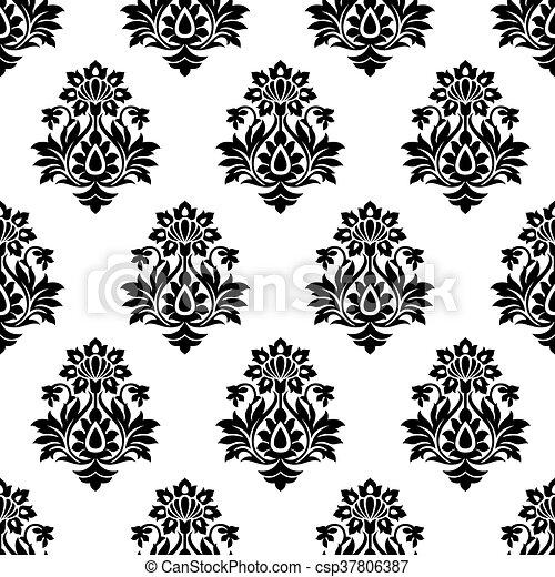 Damask seamless wallpaper - csp37806387