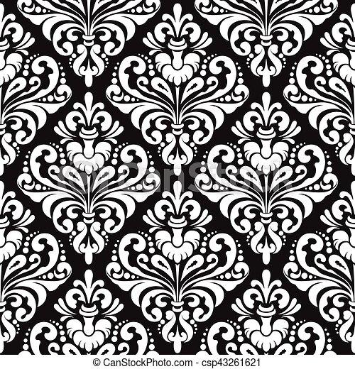 damask wallpaper background illustration csp43261621