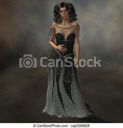 dame, black  - csp0369828
