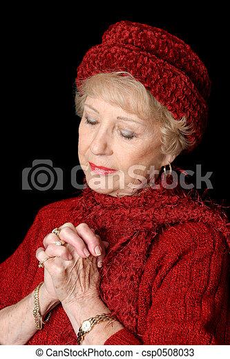 dame, consacré, personne agee - csp0508033