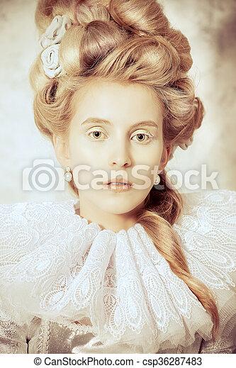 Dame Moyen Age Beau Robe Sepia Mode Moyen Age Coiffure Vendange History Luxueux Eleve Renaissance Femme Canstock