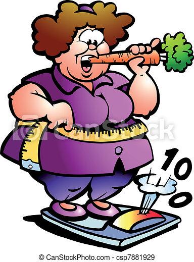 dame, ventre, graisse - csp7881929