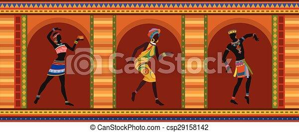 dança, pessoas, étnico, africano - csp29158142