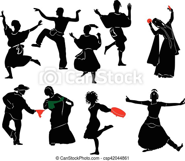 dançarino, étnico - csp42044861