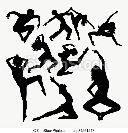 Dance activity freestyle silhouette - csp34261247