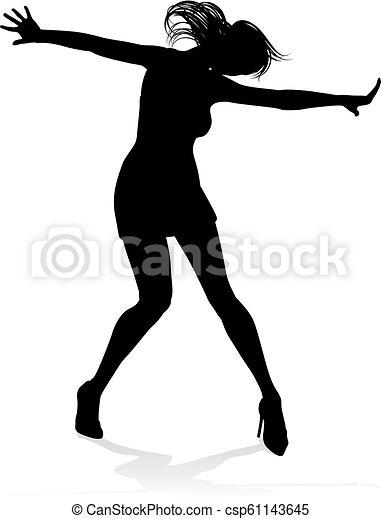Dance Dancer Silhouette A Woman Dancer Dancing In Silhouette