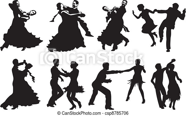 dance icon - dancing couple - csp8785706