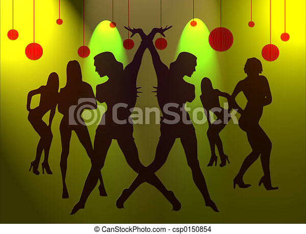 Dance of sexy girls for new years silhouette of sexy girls dance of sexy girls for new years stock illustration sciox Choice Image