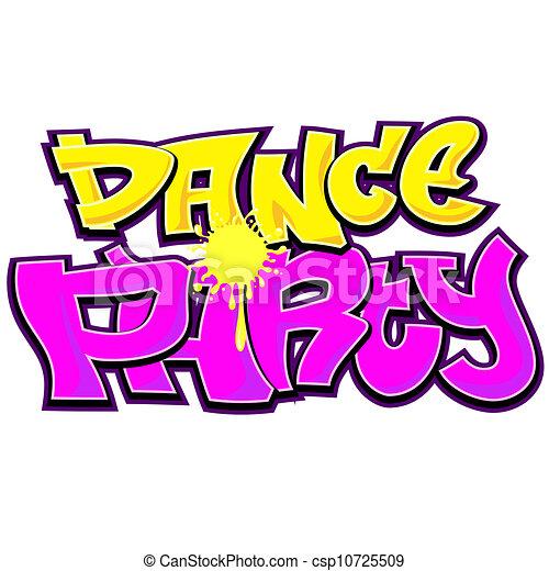 dance party graffiti urban art design vector clipart search rh canstockphoto com